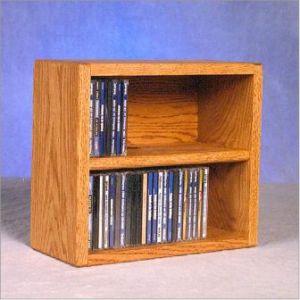 & Solid Oak Desktop Or Shelf Cd Cabinet