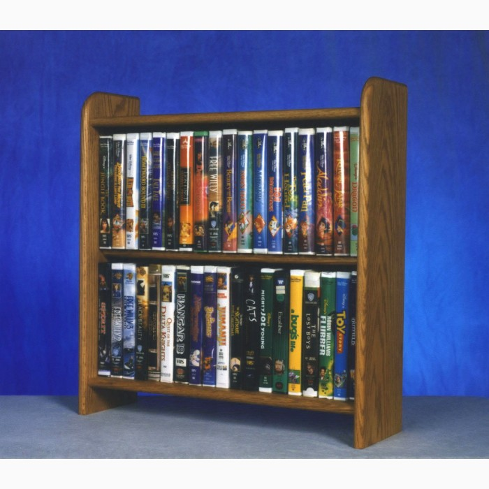 Solid Oak Cabinet For Dvd S Vhs Tapes Books And More
