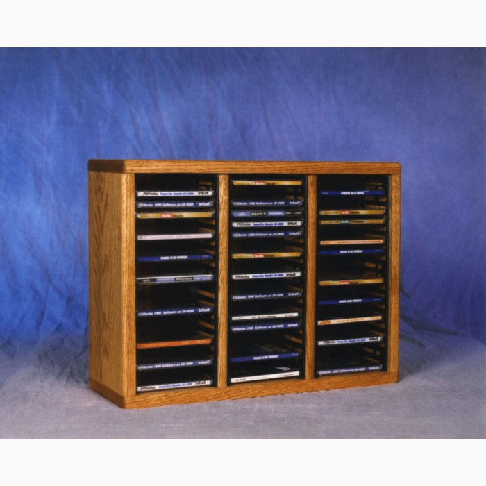 sc 1 st  CD Rack Shoppe & Solid Oak Tower For Cdu0027S (Inidual Locking Slots)