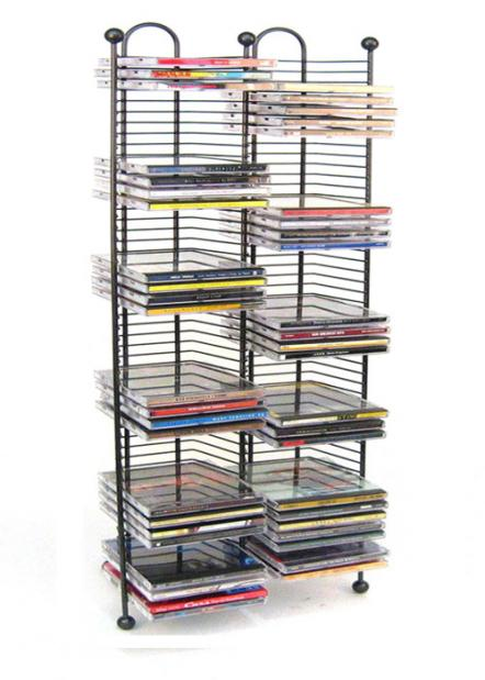 Nestable 100 Cd Tower Gunmetal Color W Metal Balls
