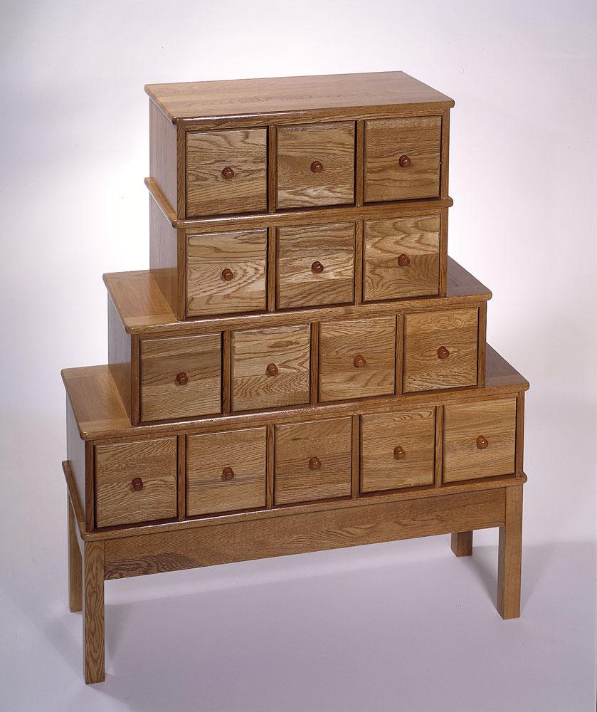 . Distinctive Apothecary Style Storage Cabinet