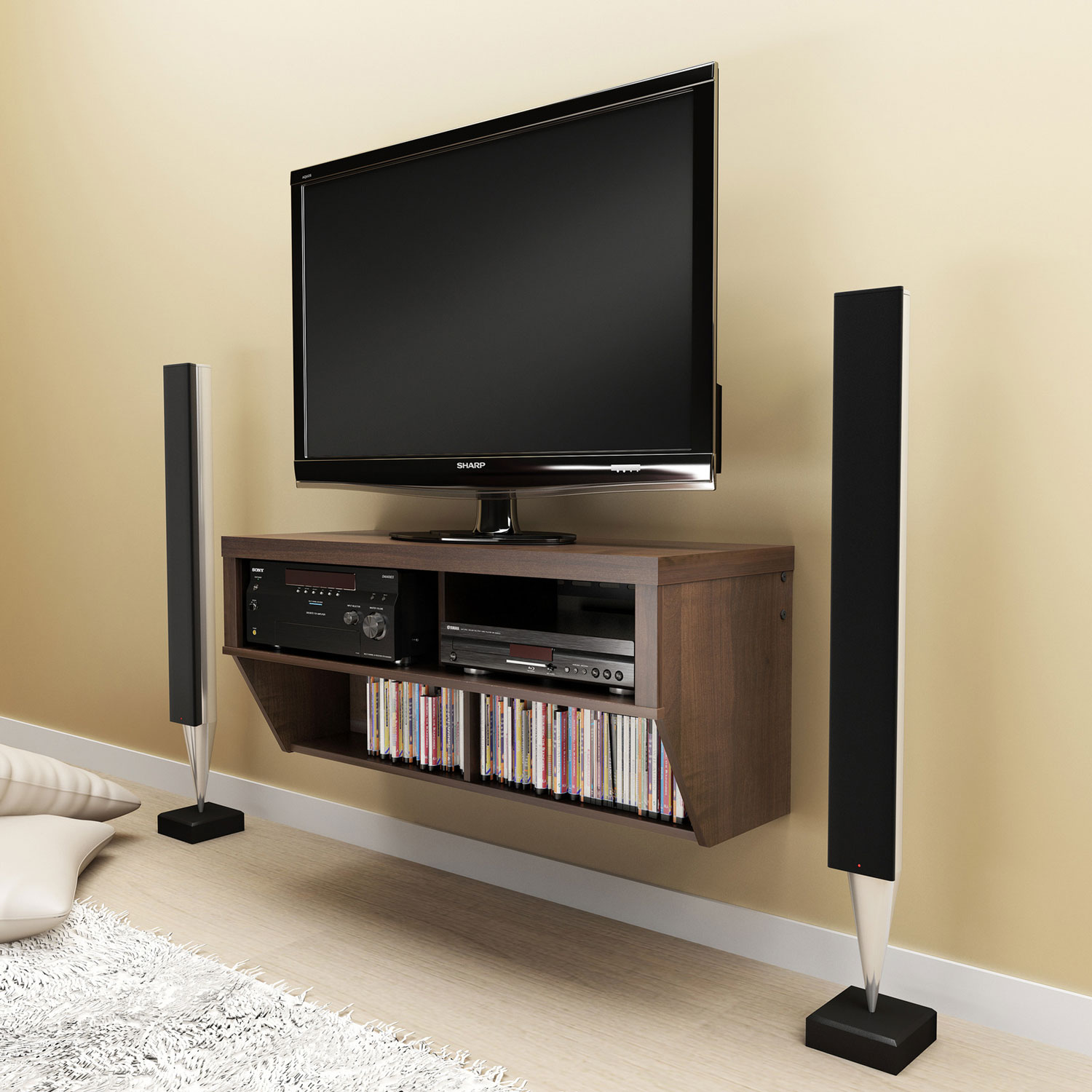 Wall Mounted Tv Cabinet : Espresso 42