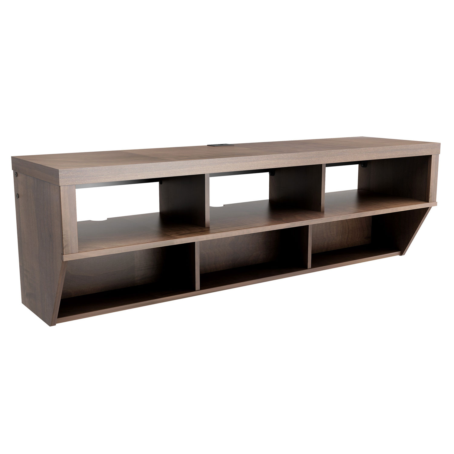 espresso 58 inch wide wall mounted entertainment console. Black Bedroom Furniture Sets. Home Design Ideas