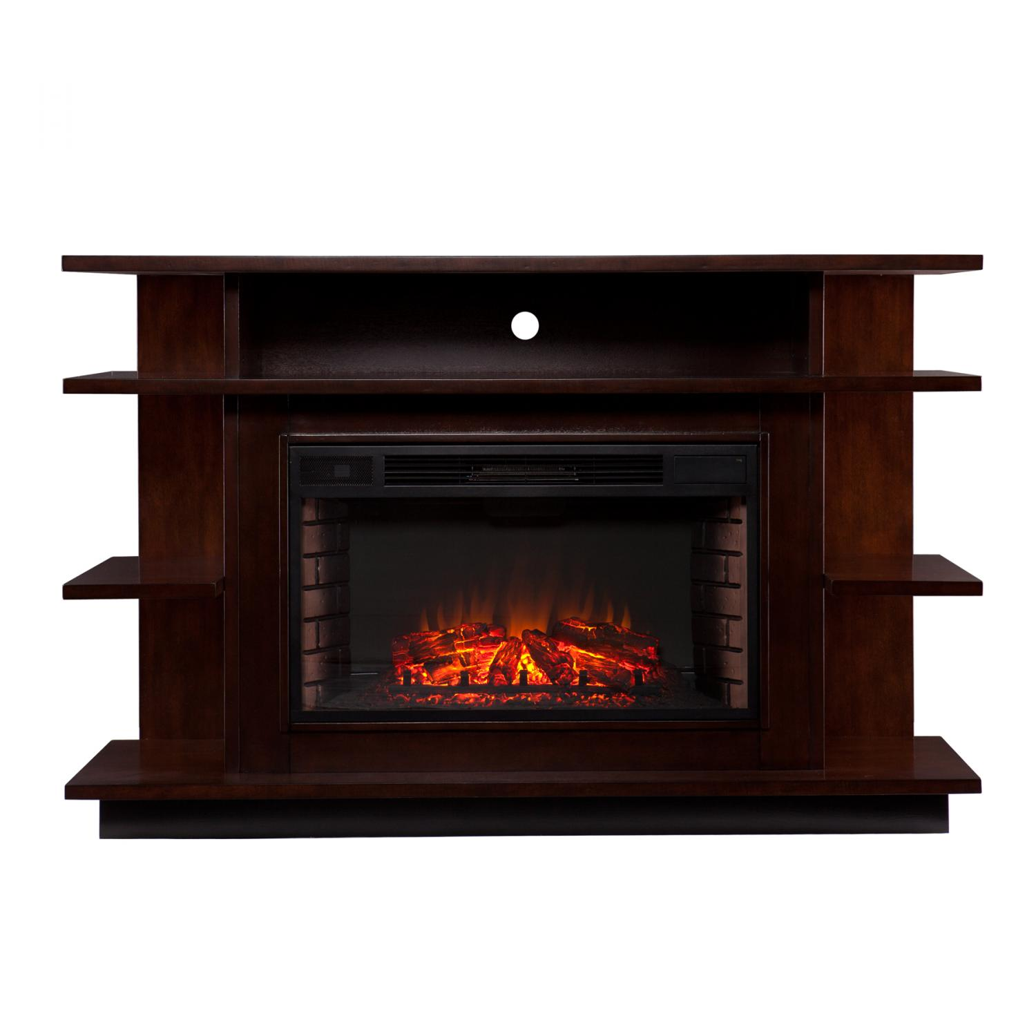 Granville Media Electric Fireplace Espresso Ebony Stain Southern Enterprises Inc Fe9031