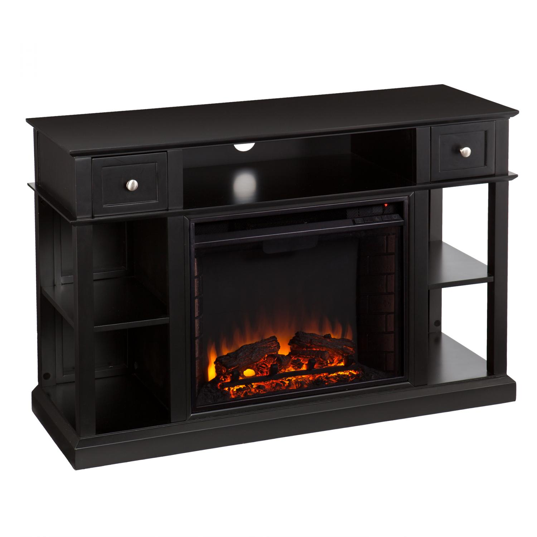Dayton Media Fireplace Black Southern Enterprises Inc Fe9395
