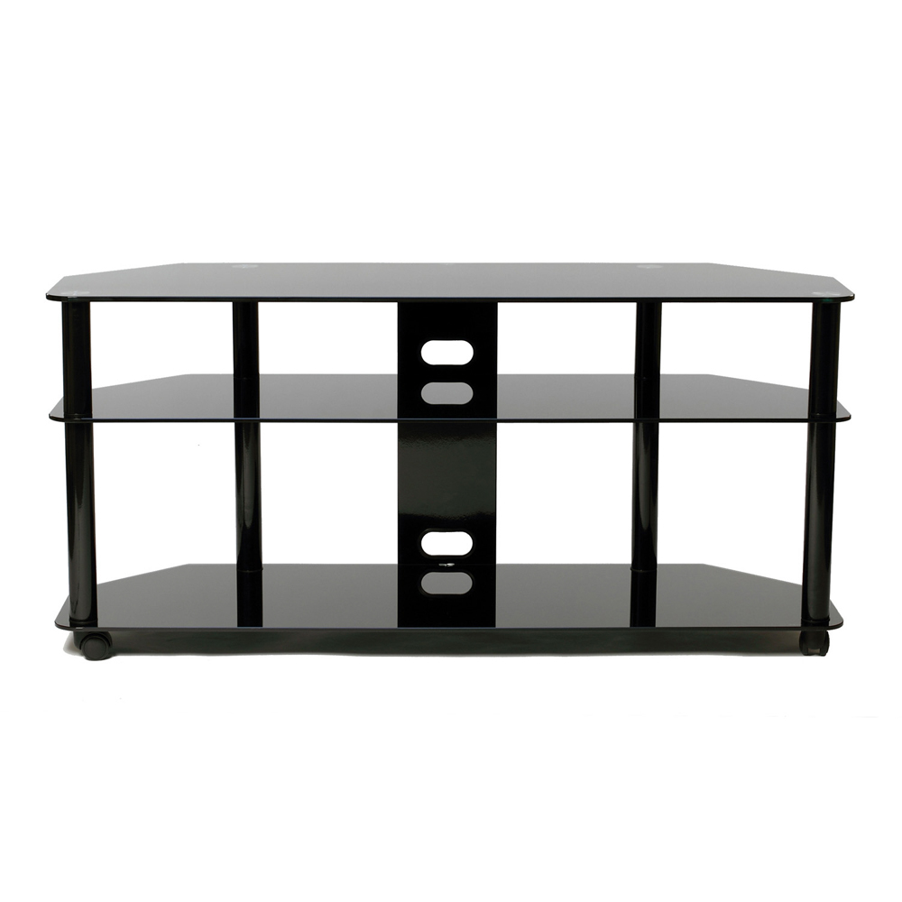 Versatile 60 Inch Black Tv Stand With Casters