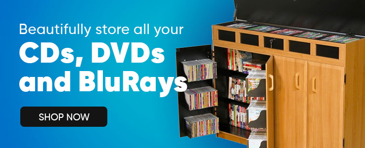 Beautifully Store Your CDs DVDs and BluRays