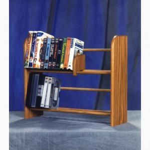 Solid Oak 2 Row Dowel DVD/Vhs Rack