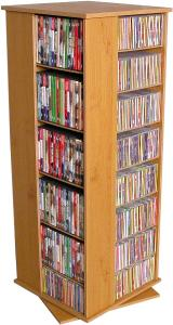 Revolving Media Tower 900 oak/black