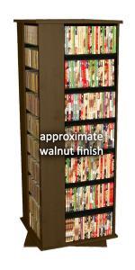 Revolving Media Tower 1600 walnut