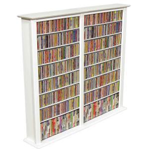Media Storage Tower-Regular Double white