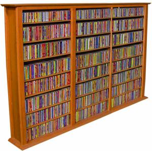 Media Storage Tower-Regular Triple cherry