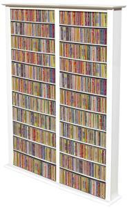 Media Storage Tower-Tall Double white