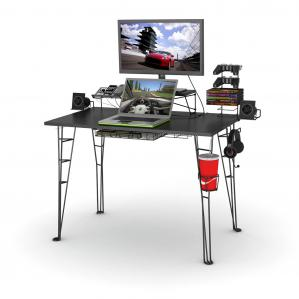 Gaming Desk In Black With 8 Accessories