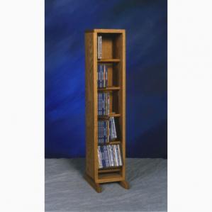 Solid Oak Dowel Cabinet For Cd'S