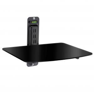 Atlantic Single DVD Component Shelf For Flat Screen TV