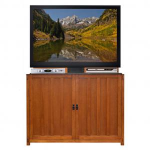 Elevate Mission Oak TV Lift Cabinet
