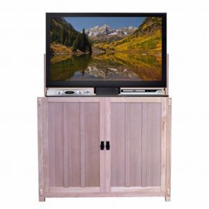 Elevate Mission Oak - Unfinished TV Lift Cabinet