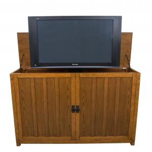 Grand Elevate Mission Oak TV Lift Cabinet