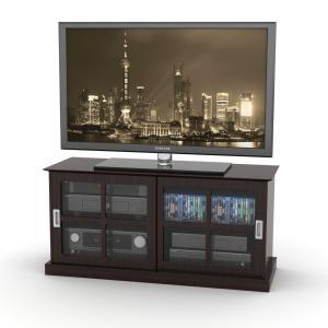 Windowpane TV Stand In Espresso