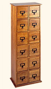 Cd Library Style Cabinet - 144