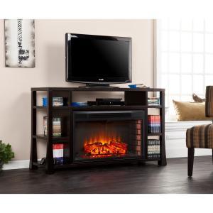 Stockton Media Electric Fireplace - Ebony Stain