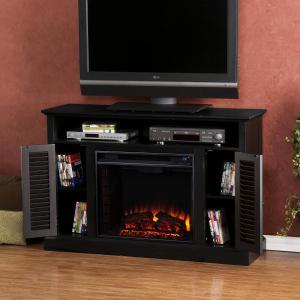 Antebellum Media Electric Fireplace - Black