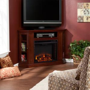 Claremont Convertible Media Electric Fireplace - Cherry