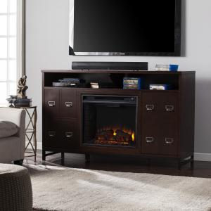 SOLD Rutherford Electric Fireplace Media Stand - Espresso