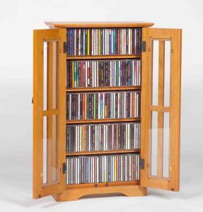 2-Door Media Wall Mount Cabinet W/ Glass Doors