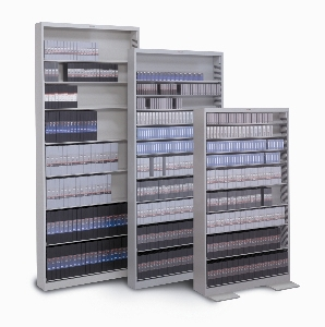 9 Shelves DVD Storage With Backstops And Standard Shelving