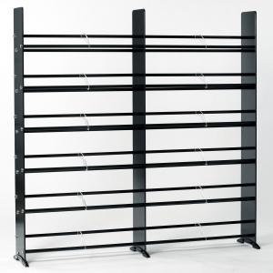 Black Tempered Glass Multimedia Double Storage Rack