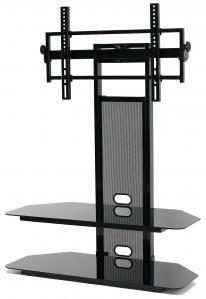 LCD/LED TV Mounting System With 2 Av Component Shelves