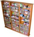Media Storage Tower-Tall Triple oak