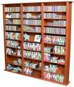 Media Storage Tower-Tall Triple cherry